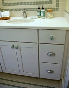 Organization and storage bathroom cabinet drawers