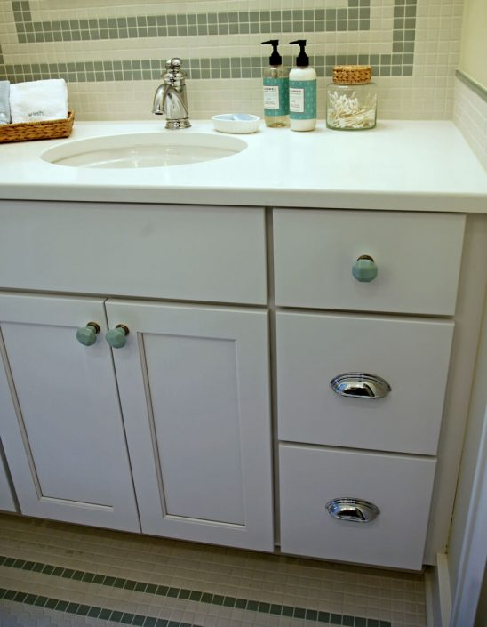 Organization and storage bathroom cabinet drawers