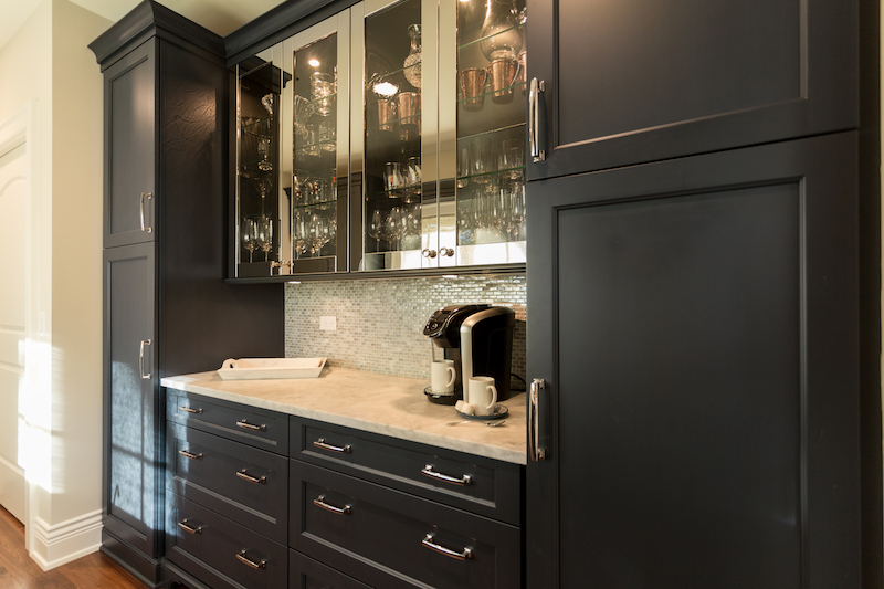 Butlers Pantry with stainless steel cabinets
