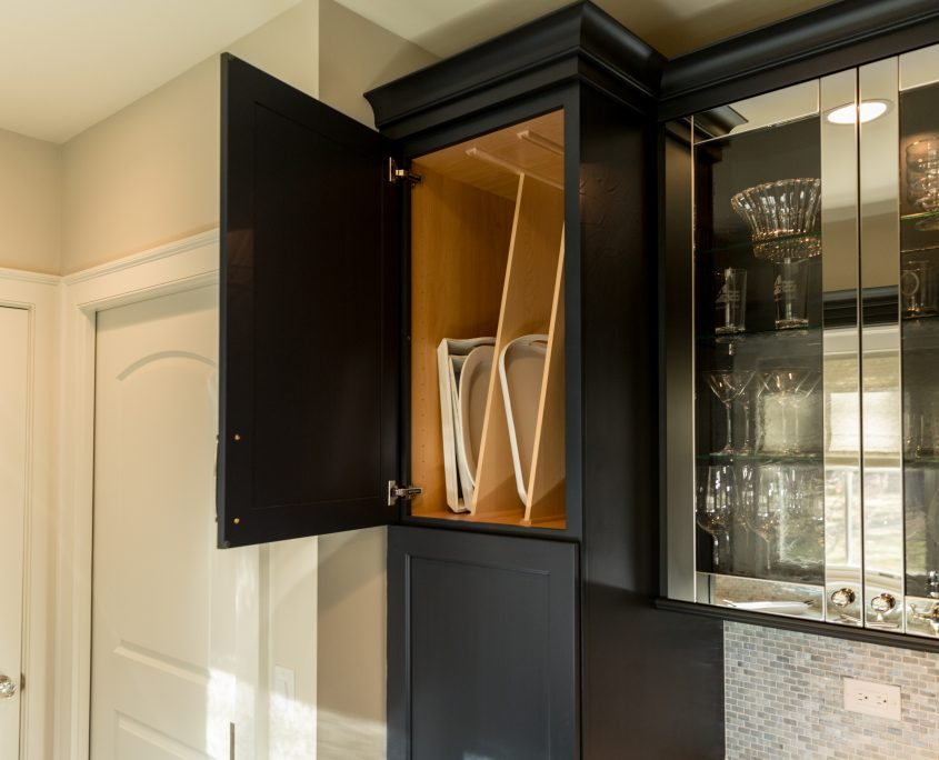tray storage butlers pantry