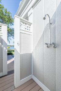 Outdoor shower area