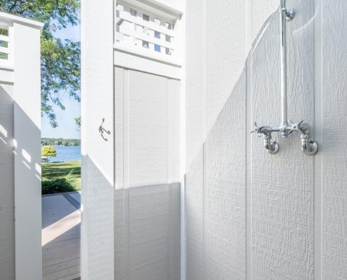 Outdoor shower area