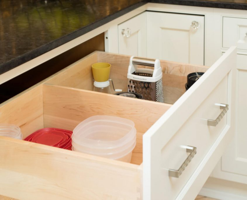 organization deep kitchen drawer