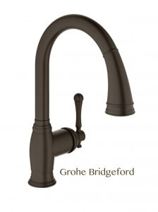 Kitchen and Bath Bronze trend Grohe Bridgeford