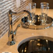 Kitchen and Bath trend Silver bar sink high shine metal