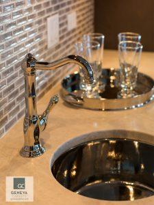 Kitchen and Bath trend Silver bar sink high shine metal