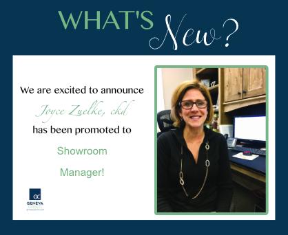 Joyce cabinet company new showroom manager