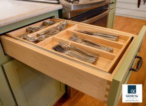 Cabinet Storage Medallion tiered drawer storage