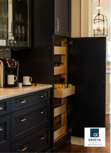Cabinet Storage Wood Mode pull out shelving