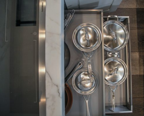Cabinet Storage pull out shelving for pots and pans