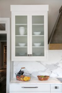Farmhouse Plato Woodwork Kitchen Cabinetry Display glass doors