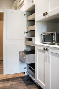 Farmhouse Plato Kitchen Cabinetry Pantry Cabinet pull out drawers