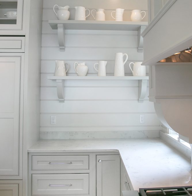 Lake House Kitchen Cabinetry kitchen open shelves