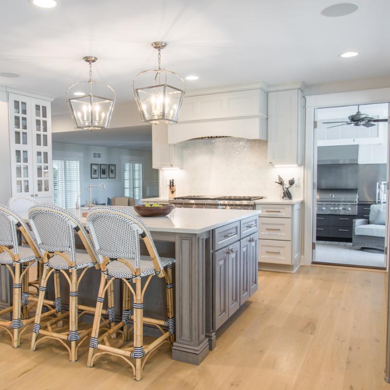 Indoor Outdoor Kitchen Renovation - Geneva Cabinet Company, LLC