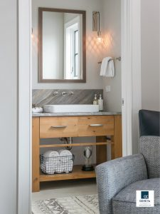 Geneva Cabinet Company custom vanity fit when just enough the right size and space are needed