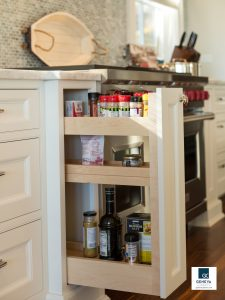 holiday kitchen preparations refresh spices and condiments Plato Woodworking cabinetry in white painted finish