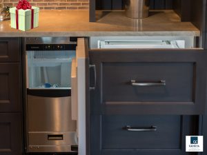 Holiday Kitchen Preparations Scotman Ice Maker Refrigerator Drawer Built In Cabinetry Bar