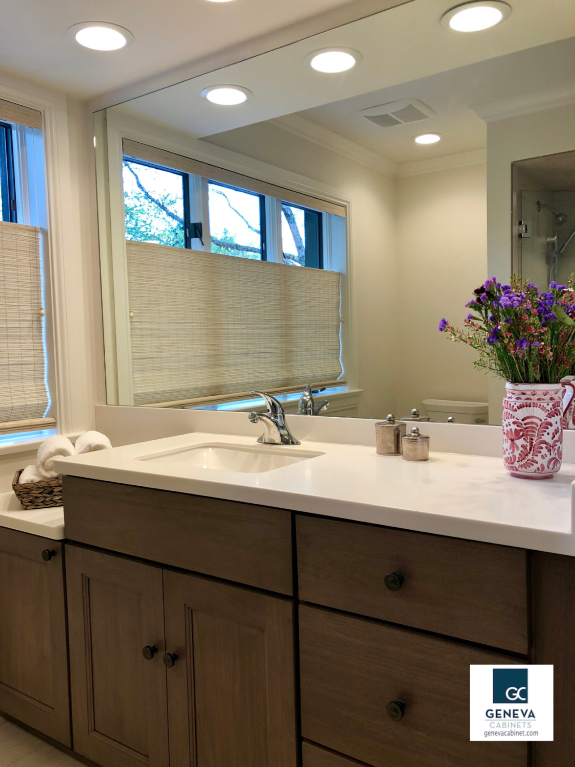 Shiloh cabinetry designed to fit hi low height