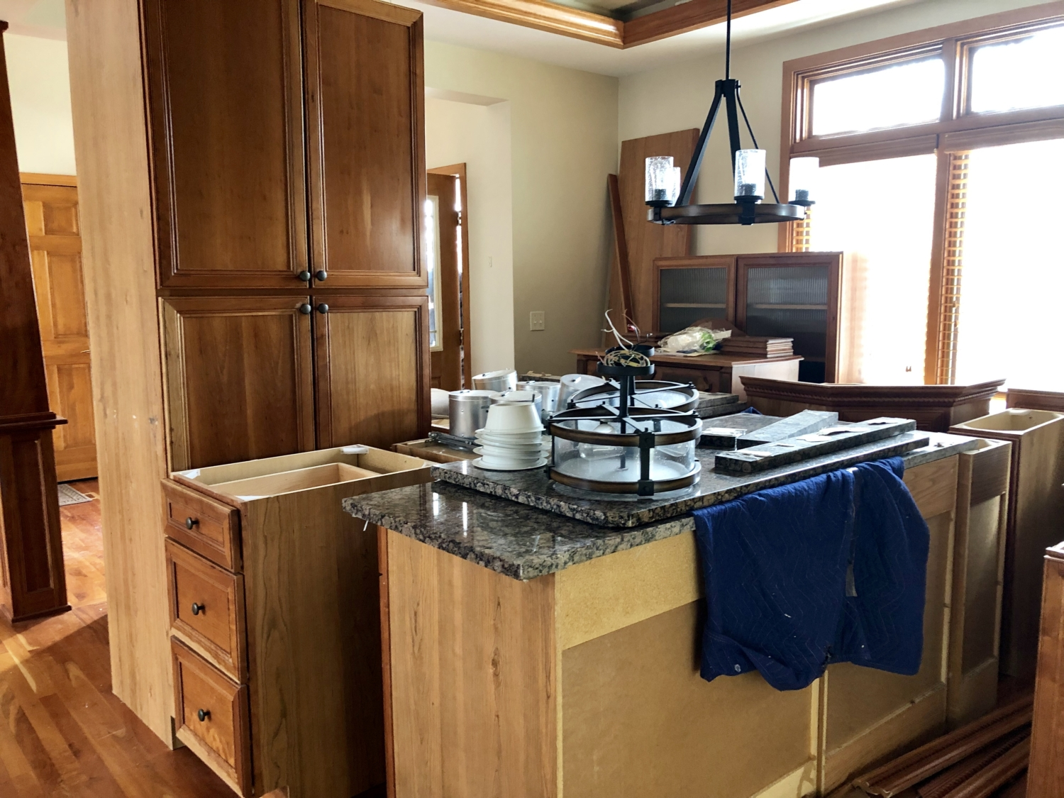 For This Project Our Team Did A Great Job Of Deconstructing The Beautiful Cherry Cabinetry That Was Unfortunately Not Working Homeowners