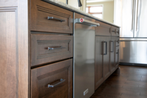 kitchen cabinets with drawers below counter