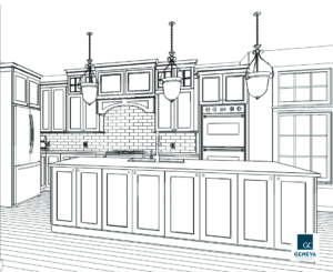 kitchen cabinet plan perspective drawing